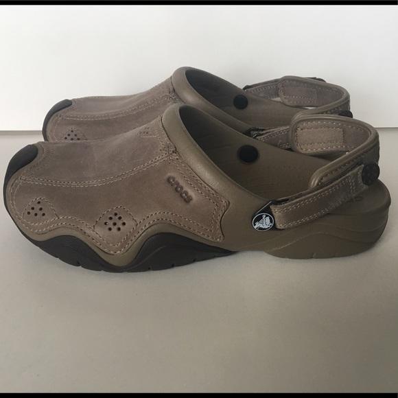 zamówienie sprzedaje połowa ceny Swiftwater Leather Crocs Men's Size 11